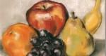 Рисуем натюрморт с фруктами