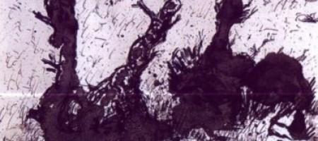 Кисть и чернила: рисунок пятнами