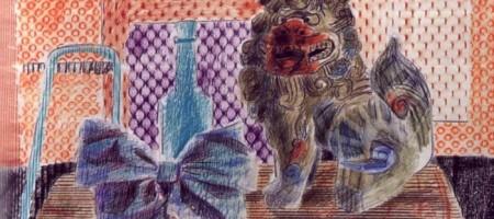 Цветные карандаши: фроттаж