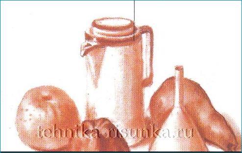 Натюрморт сангиной