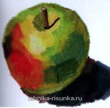 Рисунок пастельными карандашами