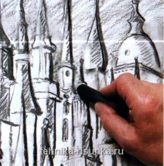 Рисование углем