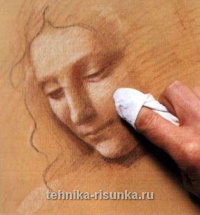 Рисунок в стиле Да Винчи