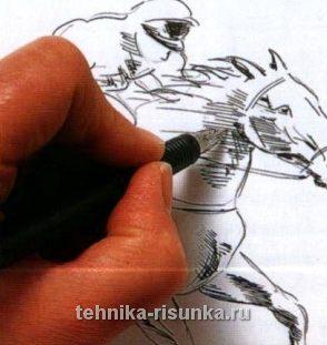 Рисунок чернилами