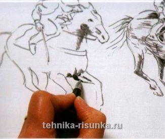 Рисуем чернилами, движение