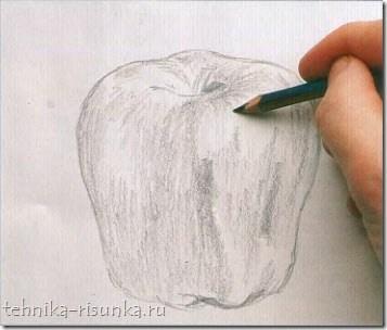 блики яблока