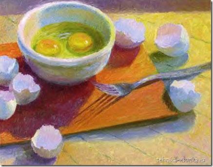 рисунок вилки и яиц
