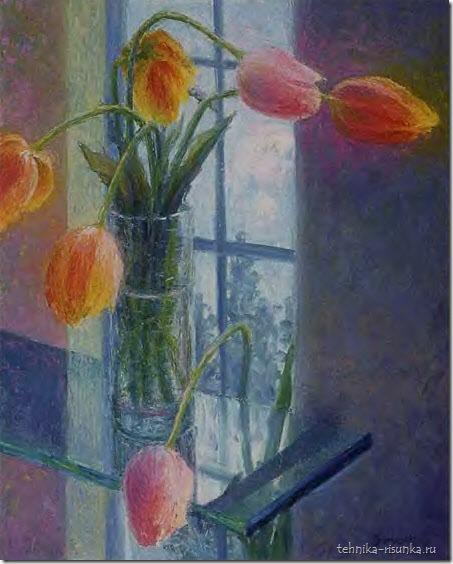 рисунок тюльпанов