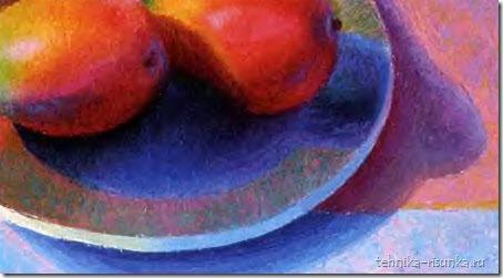 тени в натюрморте с фруктами