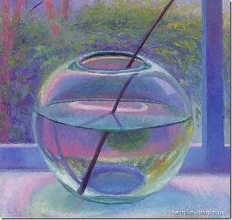 тень от стеклянной вазы