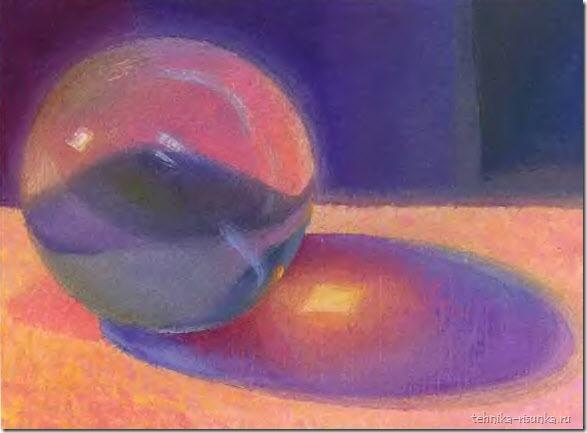 рисунок стеклянного шара