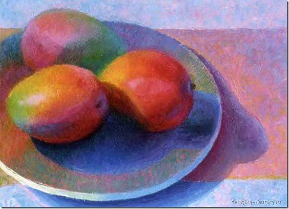 рисунок плодов манго
