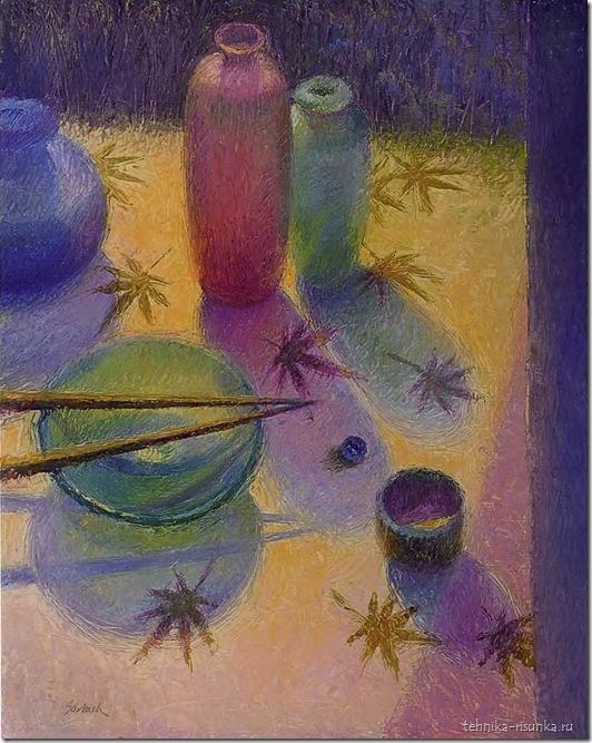 рисунок палочек и стекла