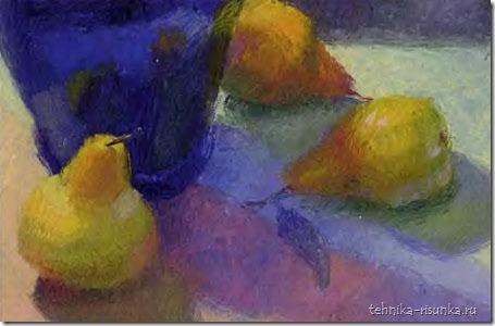 рисунок груш маслом