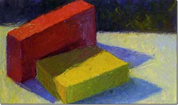 этюд с цветными блоками