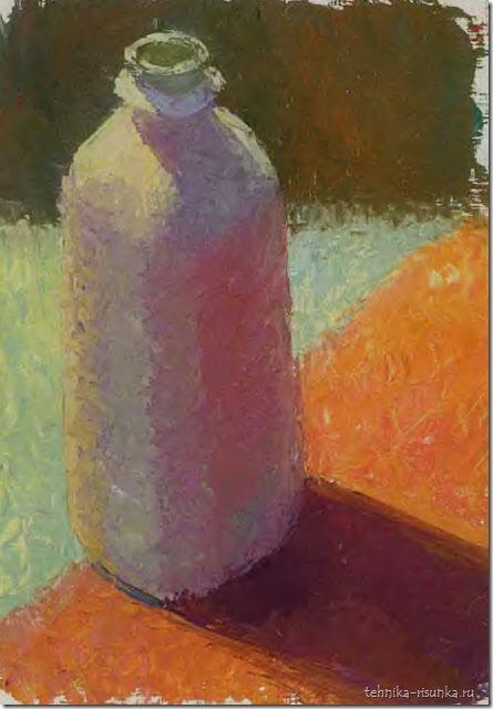 рисунок белой бутылки