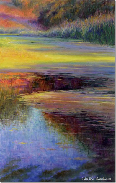 рисунок пруда