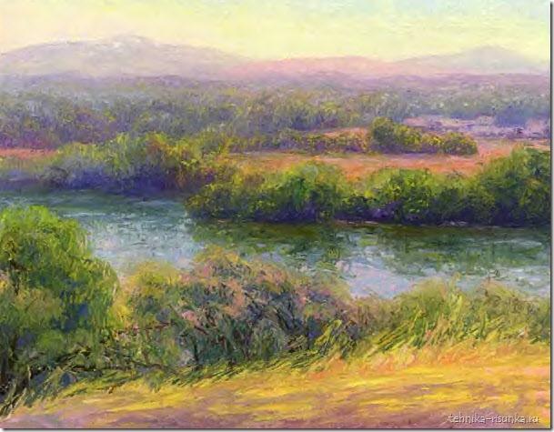 рисунок реки