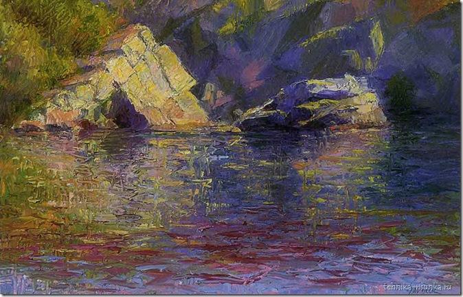 рисунок озера
