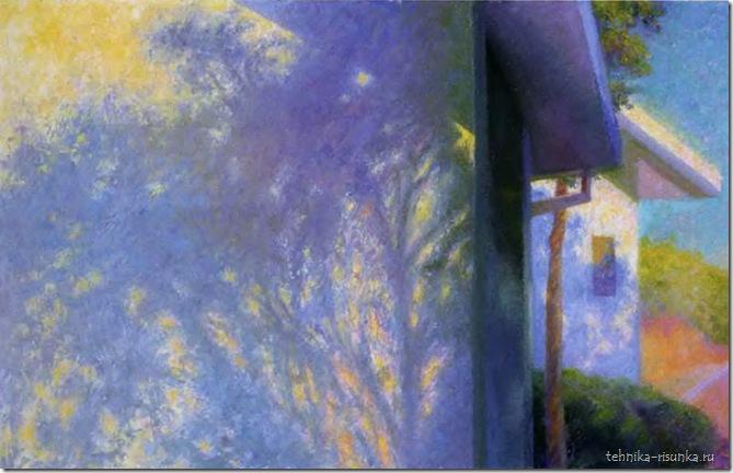 рисунок тени дерева на стене