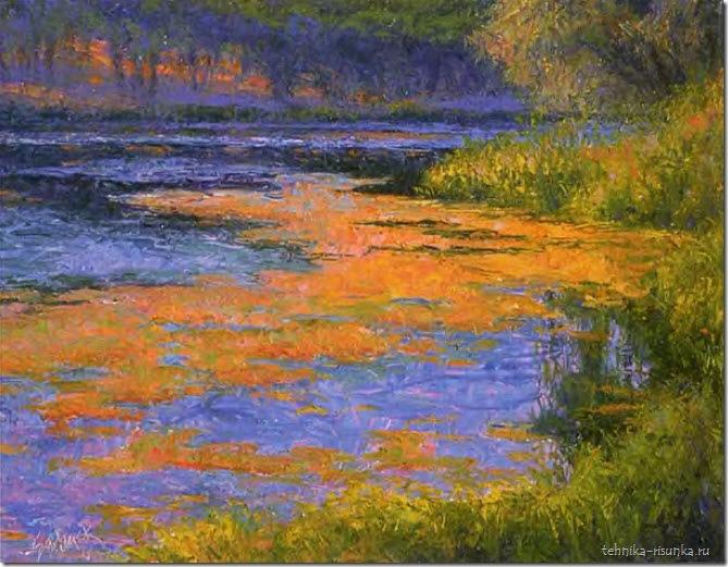 пейзаж пруда