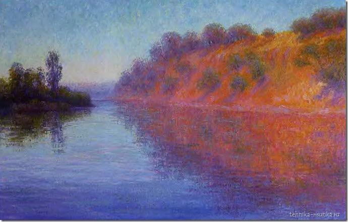 речной пейзаж: летнее утро