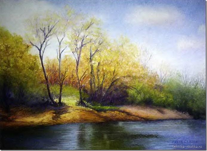 пейзаж: у берега реки