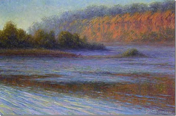 речной пейзаж: весенняя дымка