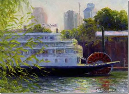рисунок парохода