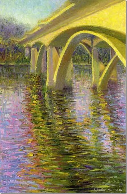 мост, вечер