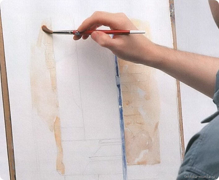 кирпичная стена: косяк двери и штукатурка