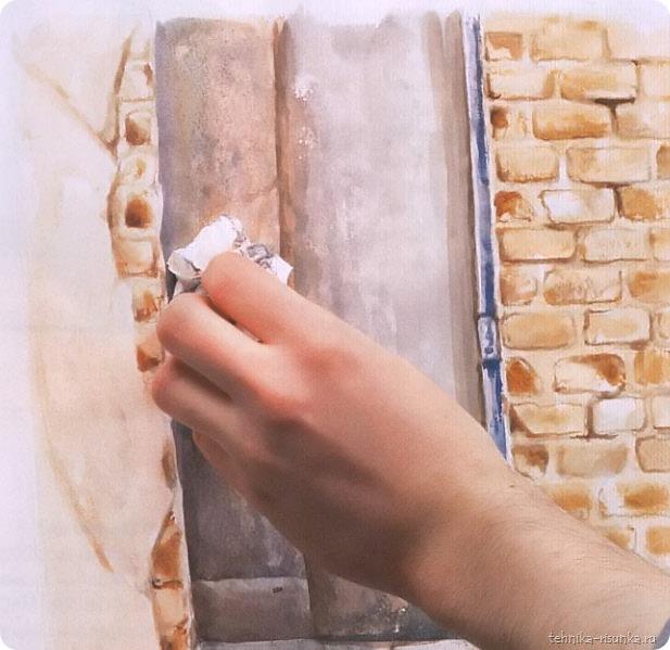 кирпичная стена: задние тени