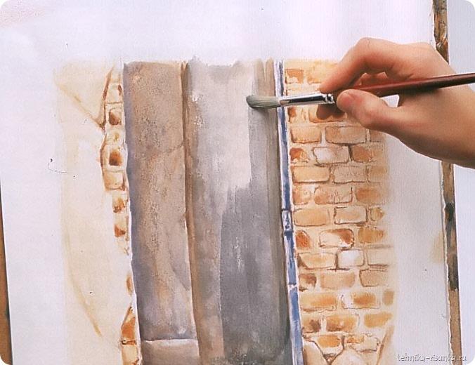 кирпичная стена: насыщенная краска