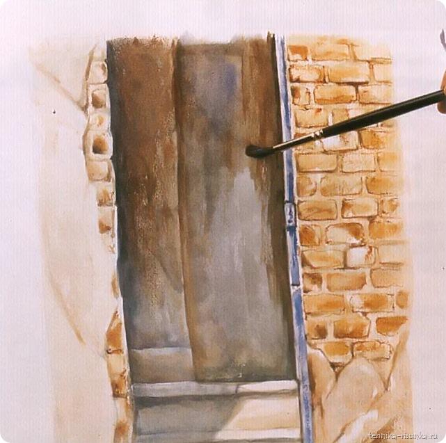 кирпичная стена: завершение работы