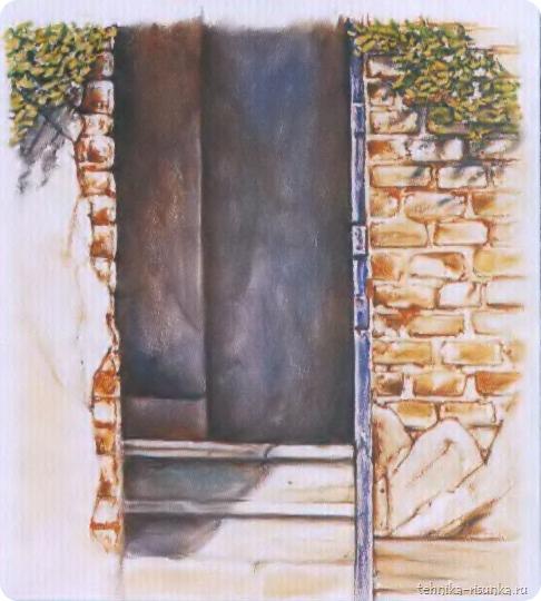 кирпичная стена: плющ