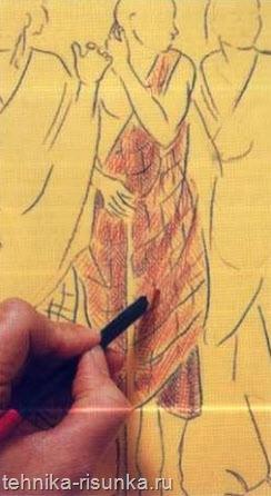Рисовальная бумага, теплый тон