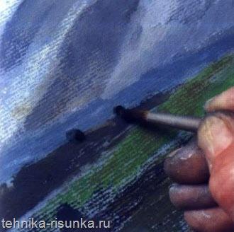 Слой масляной пастели