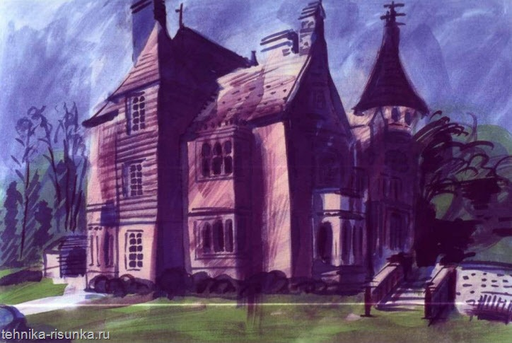 Рисунок старого здания