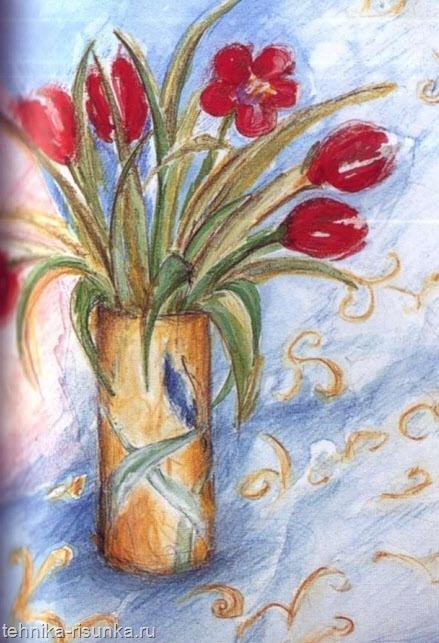 Рисунок акварелью и карандашом
