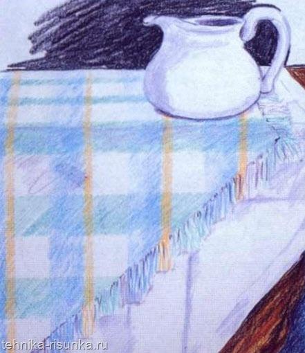 Рисунок с клейкой лентой